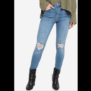 Topshop Jamie Ripped Moto Jeans • NWOT • Sz 28